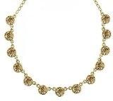 1928 Jewelry-Orecchini in oro, con cristalli, color topazio chiaro 40,64 cm (16