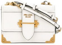 Prada - Borsa Cahier - women - Calf Leather - One Size - WHITE
