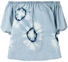 Stella McCartney - Blusa con stampa tie-dye - women - Cotone/Spandex/Elastane - 36, 38 - Blu