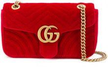 Gucci - GG Marmont shoulder bag - women - Velvet - One Size - RED