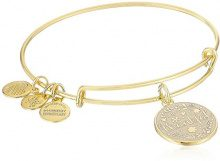 Alex and Ani Braccialetto Estensibile da Donna con Charm in Ottone