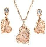 Arco Iris Jewelry 3018701 - Parure collana ed orecchini a cuori asimmetrici in oro rosa colore