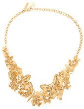 Oscar de la Renta - Butterfly necklace - women - Gold/Brass/Pewter - OS - METALLIC
