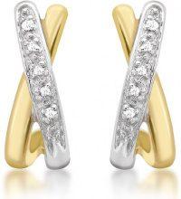 Carissima Gold - Orecchini da Donna in Oro Giallo 9K (375) con Diamante (0.05 K)