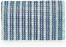 Dvf Diane Von Furstenberg - woven stripe clutch bag - women - Calf Leather/Rayon - OS - Blu