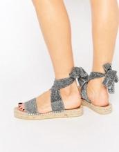 ASOS - JASMINE - Espadrillas con stringhe sulla gamba