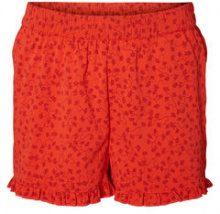 VERO MODA Floral Frill Shorts Women Red