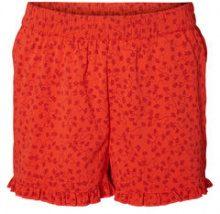 VERO MODA Floral Frill Shorts Women Red
