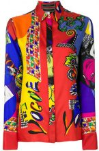 Versace - mixed print shirt - women - Silk - 40 - RED