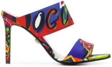 Versace - Mules - women - Cotone/Leather - 36, 38.5, 35, 35.5, 36.5, 38, 40 - Multicolore