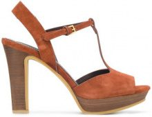 See By Chloé - Sandali 'Crosta' - women - Calf Suede/Leather/rubber - 37, 38.5, 39 - BROWN
