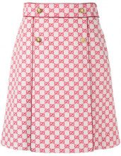 Gucci - GG A-line skirt - women - Cotone/Polyester/Lamb Skin - 40, 42, 44, 38 - Rosso