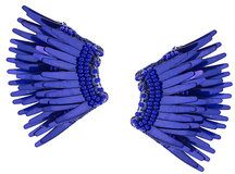 - Mignonne Gavigan - wings earrings - women - glass/pelle/ottone placcato in rodio/paillettes - Taglia Unica - di colore blu