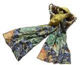 Prettystern - Reproduzione opera d'arte print 160cm dipinto van Gogh sciarpa di seta bordi arrotolati a mano varie fantasie