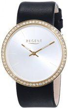 Regent 12100590 - Orologio da polso da donna, cinturino in pelle colore nero