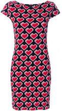 Love Moschino - Abito stampato con cuori - women - Cotton/Spandex/Elastane - 40 - BLACK