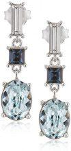 Elements Silver Donna 925 argento Baguette blu Cristallo
