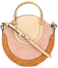 Chloé - Pixie embellished bag - women - Calf Leather/Calf Suede - One Size - NUDE & NEUTRALS