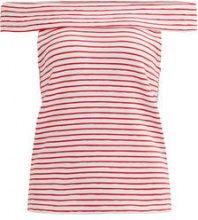 VILA Striped Short Sleeved Top Women White