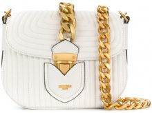 Moschino - quilted chain shoulder bag - women - Leather - OS - WHITE