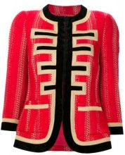 Givenchy - lurex tweed jacket - women - Acrylic/Polyester/Viscose/Metallized Polyester - 38 - Rosso