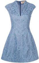 Blanca - Mini abito con fiori in pizzo - women - Viscose/Cotone/Polyamide - 42, 46 - BLUE