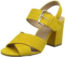 New Look Resco, Scarpe col Tacco Punta Aperta Donna, Yellow (Dark Yellow 87), 39 EU