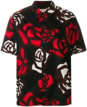 Marni - rose print shirt - women - Cotton - 48, 42, 40 - BLACK
