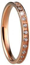 Bering Donna acciaio inossidabile bianco Zirconia cubica e acciaio inossidabile, 67 (21.3), colore: oro rosa, cod. 556-37-X1