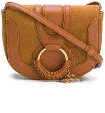 See By Chloé - Hana shoulder bag - women - Cotone/Calf Leather/Suede - One Size - Marrone