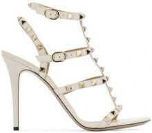 Valentino - rockstud embellished strappy heels - women - Leather - 35, 35.5, 36, 36.5, 37, 37.5, 38, 38.5, 39, 39.5, 40, 40.5, 41 - NUDE & NEUTRALS