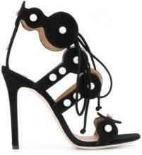 Marc Ellis - Sandali decorati con perle - women - Suede/Leather - 37, 39, 40, 36, 38 - Nero