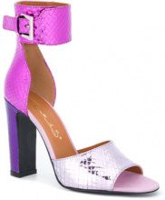 Via Roma 15 - Sandali effetto serpente - women - Leather/Patent Leather - 38, 39, 40 - Rosa & viola