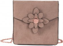 Borsa a tracolla con fiore (Marrone) - bpc bonprix collection