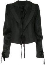 Ann Demeulemeester - Giacca 'Carlyle' - women - Rayon/Acrylic/Wool - 38, 40 - Nero