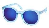 WODISON Anti-UV400 Occhiali da sole Retro obiettivo rispecchiato Clear Frame per le donne