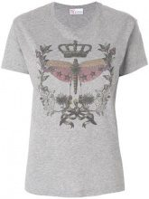 Red Valentino - star studded print T-shirt - women - Cotton - M, S, XS, L - GREY