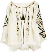 Sleeping Gypsy - Blusa con stampa azteca - women - Linen/Flax - OS - WHITE