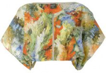 Jean Paul Gaultier Vintage - abstract print cropped blouse - women - Cotone - 42 - Multicolore