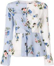 Sport Max Code - Blusa a fiori - women - Silk/Polyester - 42, 44 - BLUE