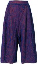 Boboutic - Pantaloni crop - women - Cotone/Paper Yarn/Polyamide - S - BLUE