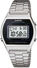 Casio Collection B640WD-1AVEF, Orologio Digitale con LED Luce da Uomo, Argento