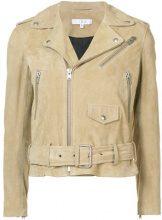 Iro - zipped biker jacket - women - Lamb Skin - 38, 40, 36, 34 - NUDE & NEUTRALS