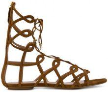 Aquazzura - Sandali con cinturini - women - Leather/Suede - 36, 36.5, 37, 37.5, 40, 38, 38.5, 39 - BROWN