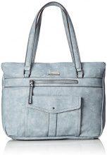 Tamaris Adriana Shopping Bag - Borse a secchiello Donna, Blau (Light Blue), 12x32x34 cm (B x H T)