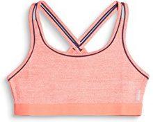 ESPRIT Sports e-Dry Bra Top, Reggiseno Donna, Arancione (Salmon 2 861), (Taglia Produttore: Small)