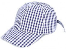 Federica Moretti - Cappello da baseball a quadretti - women - Cotton - S, M - BLUE