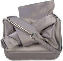 Nº21 - abstract bow shoulder bag - women - Silk - OS - GREY