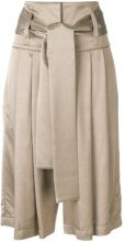 Maison Flaneur - Pantaloni con pieghe - women - Viscose - 40, 42 - NUDE & NEUTRALS
