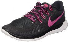 Nike Free 5.0 - Zapatillas de Entrenamiento Mujer, Black/Vivid Pink-White, 36.5